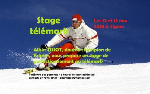 Affiche stage tlmk tignes 2016
